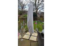 Garden umbrella, cantilever style, 1 yr old, excellent condition