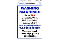 Exdisplay & refurbished Washing machines over 13.000 items on sale