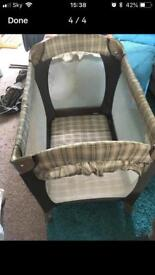 Graco stages travel cot