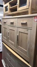 smoke oak sideboard