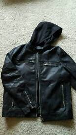 Leather look mens jacket