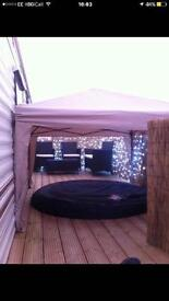 To let two bedroom southerness holiday village HOT tub
