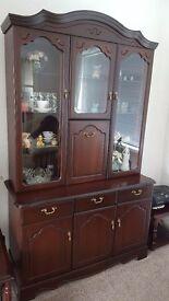 Dark wood mahogany dresser