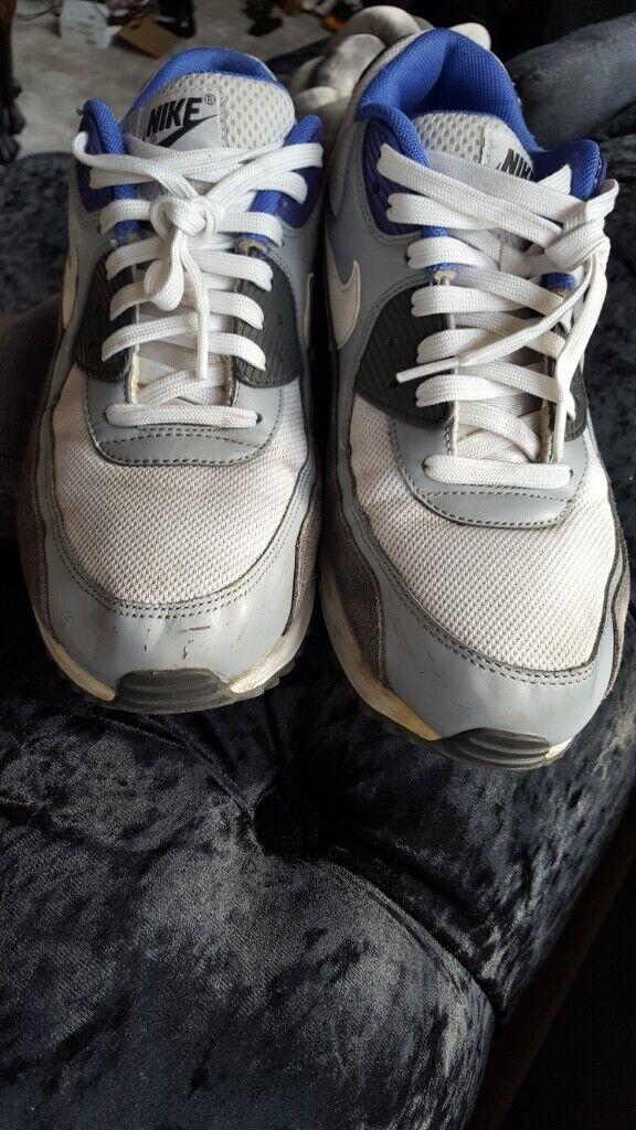 best service 804a5 b4d01 Nike Air Max 90 Essential Men s Shoes White White-Silver-Dark Grey