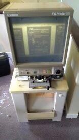 Canon PC80 Microfilm / Microfiche Reader