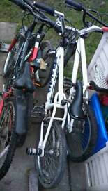 4 boys bikes for spares or repair.