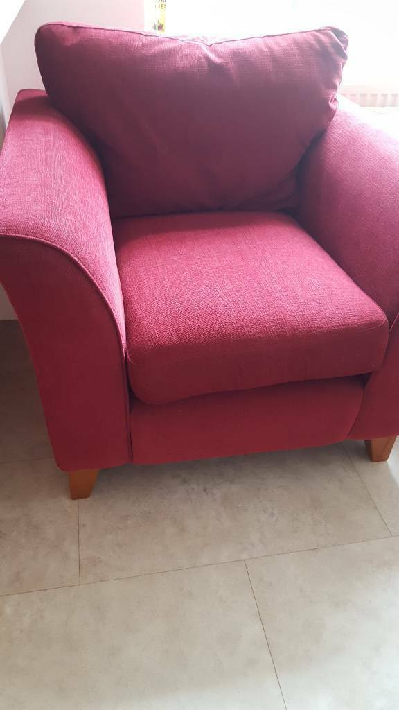 Armchairs in winein Bury St Edmunds, SuffolkGumtree - Very comfy set of armchairs in rich wine colour. Mild wear in arms but thats all. Must go! Price is for the two chairs! Can send dimensions