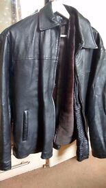 Men Leather Jacket (Black, XL)