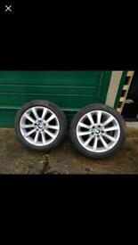 245/45/18 BMW genuine 4 alloy wheels with tyres