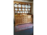 Stunning large solid pine country farmhouse kitchen dresser dovetail construction