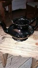 Antique Victorian Black Teapot Perfect
