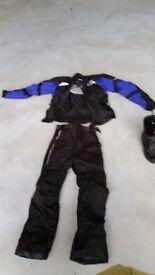 Motor bike two piece suit