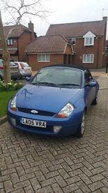 Ford streetka, blue, 1.6, convertible, new clutch