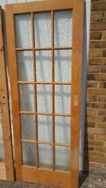 Doors internal pine with glass