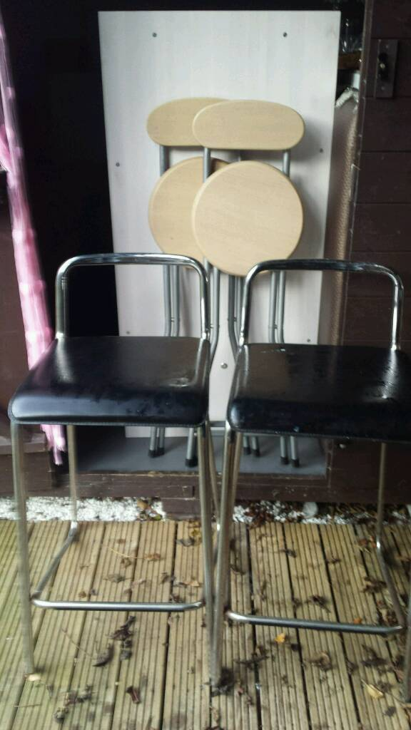 Two bar stools for outside