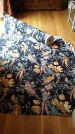 """VINTAGE SANDERSONS """" GUADELOUPE"""" Fabric sold PER METER"""