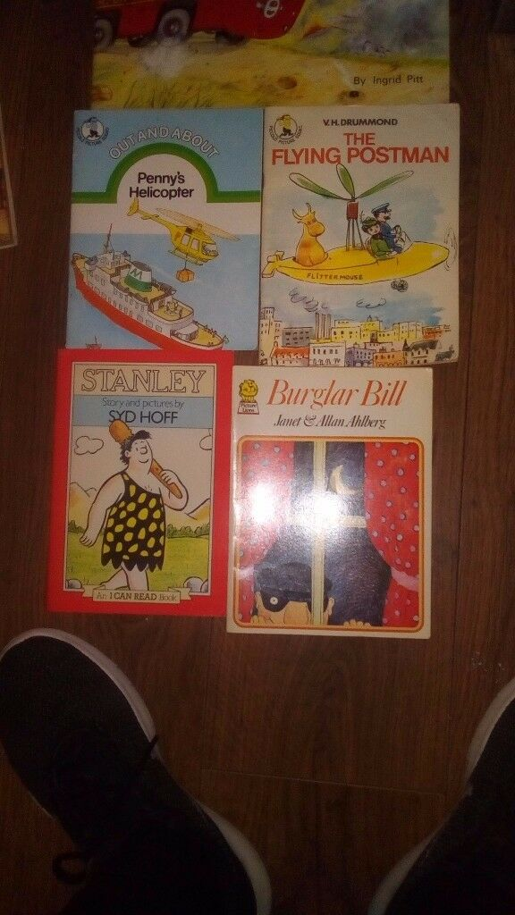 Bernie the bus, penny helicopter, flying postman, Stanley & Burglar Bill