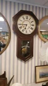 Large antique Regulator clock in good working order