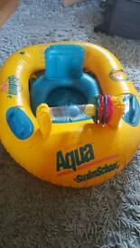 Baby swimming seat float with toy bar