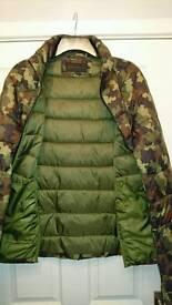 Calvin Klein Camouflage / Leaf Design Padded Jacket