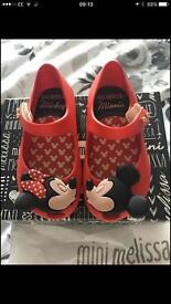 Mini Melissa Minnie and Micky shoes