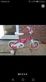 "12"" girls huffy bike"