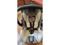 RECARO BABY CARRIER, CAR SEAT WITH ISOFIX BASE AND BABY CARRIAGE EXTENSION: AS NEW