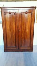Victorian Two Doors Mahogany Wardrobe