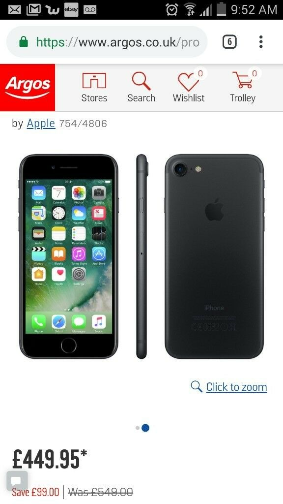 iphone 7 BRAND NEW BLACK  639502e4338