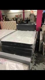 Double Divan bed set inc luxury mattress full new bed
