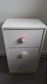 Small bedside drawers