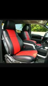 LEATHER CAR SEAT COVERS TOYOTA AURIS TOYOTA ESTIMA TOYOTA AVENSIS TOYOTA PRIUS PLUS
