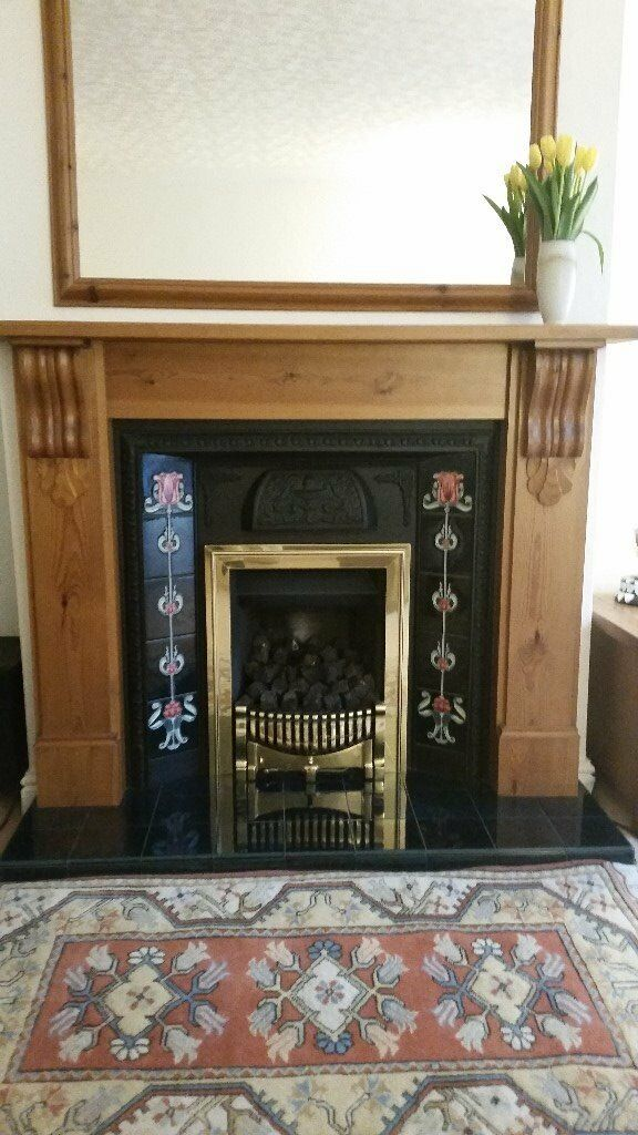Solid Pine surround fire Place