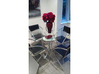 Glass Dining Table Set - Includes 4 Chairs