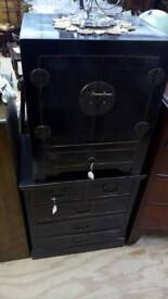 2x Bedside black table