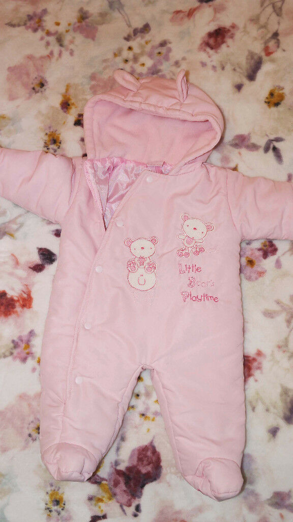 136a54121a Baby Snowsuit Rock A Bye Baby Pink 3-6 Months