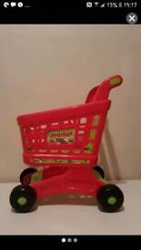 Toddler shopping trolley.