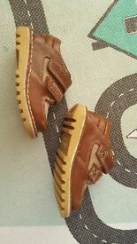 Childrens Tan Kickers size 5 infant