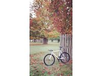 NEW IN!! !!! Steel Frame Single speed road bike fixed gear racing fixie bicycle J89LC