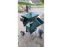 Petrol garden chipper / shredder, Bolens Troybilt Tomahawk, with 8 hp Briggs & Stratton engine