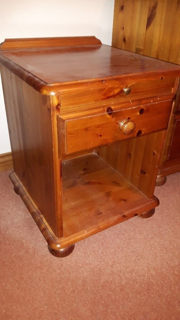 Antique pine bedside table with drawer - Antique Pine Bedside Table With Drawer In Dunnington, North