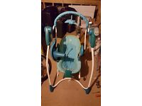 Graco Swing n' Bounce 2-in-1 Swing, used with 3 brand new batteries