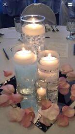12 x 3 tier vases table centrepiece
