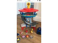 Paw patrol puppy tower with car and pups excellent condition