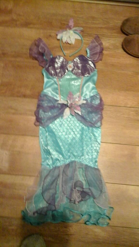 Mermaid fancy dress size 7-8
