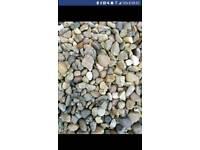 Garden stones/pebbles bagged