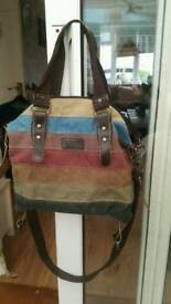 Distressed look hand bag