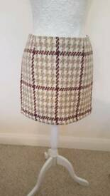 New look checked skirt
