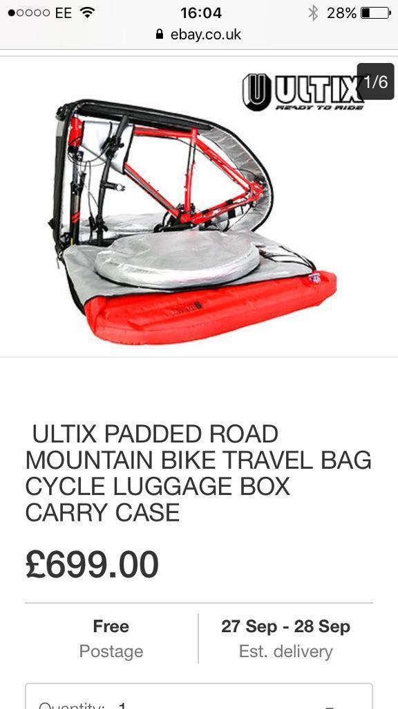 Ultix Padded bike travel bag