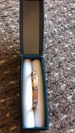 Child's Adjustable Rolled Gold Christening Bracelet